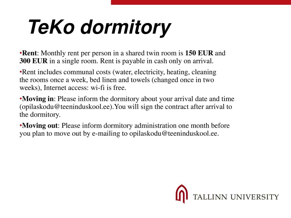 Tlu Tallinn University Rent A Room