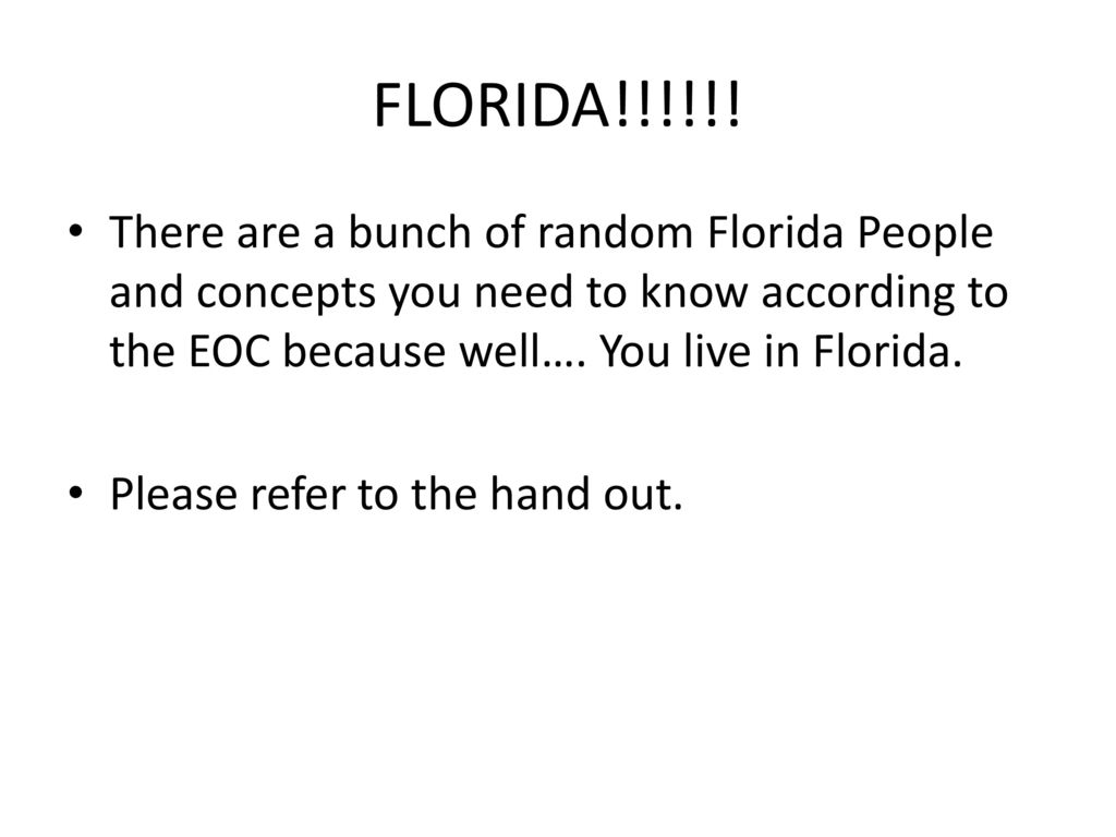 Bell ringer why did so many people move to cities ppt for Why live in florida