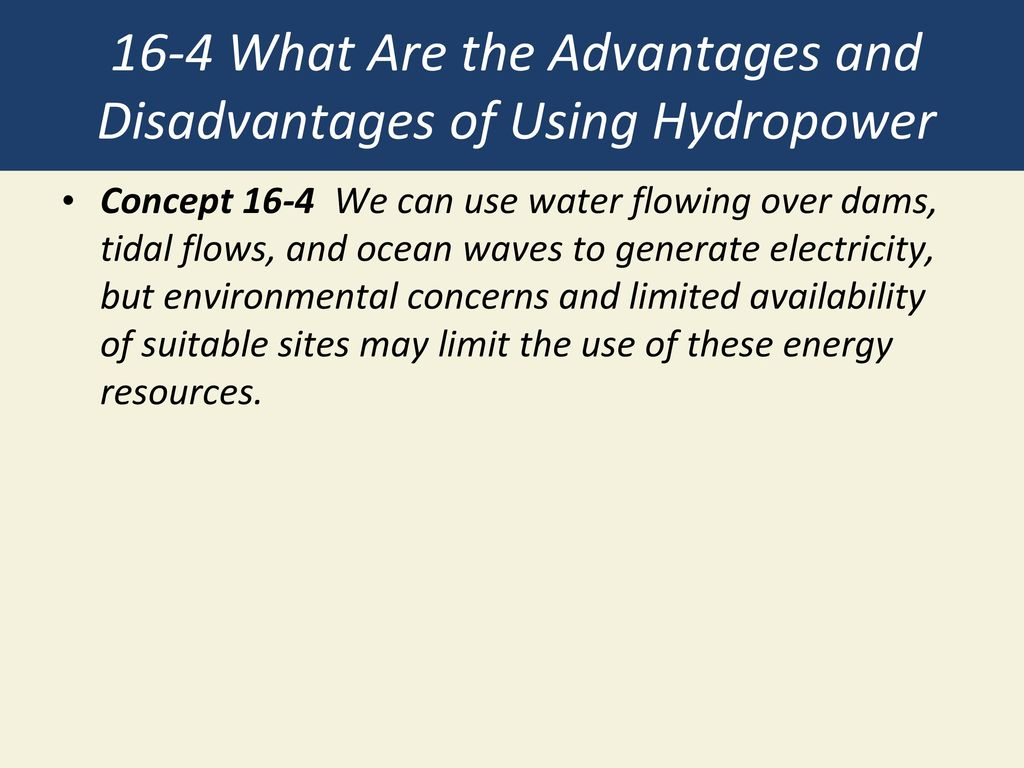 the advantages of using dams to create hydroelectric power