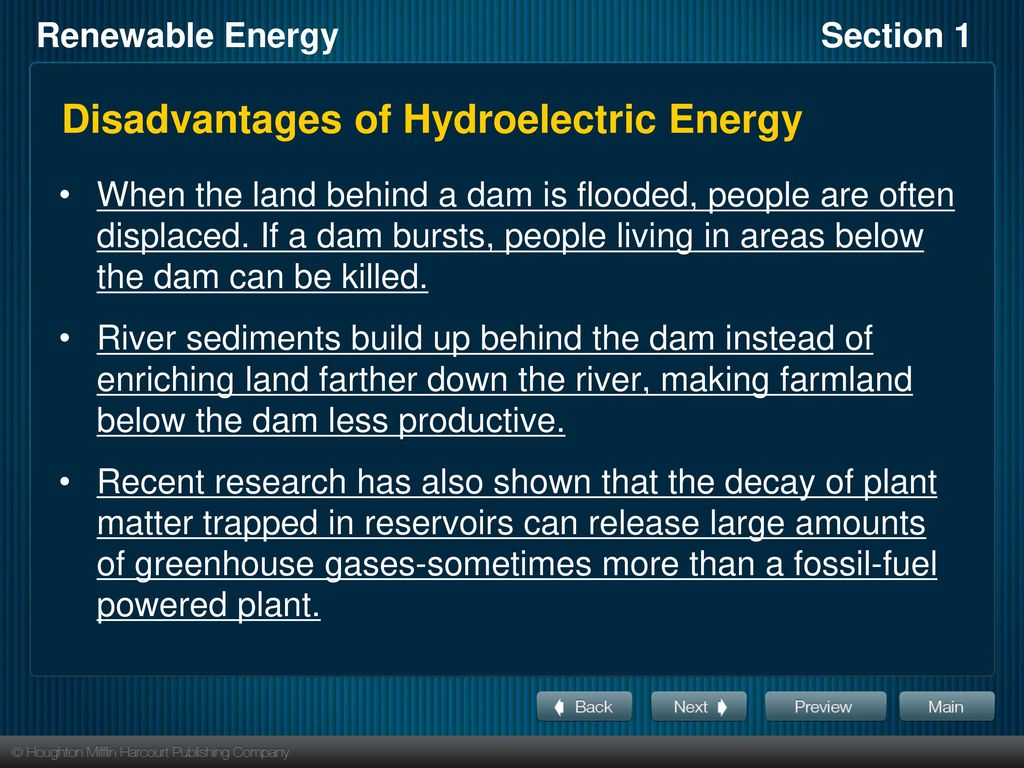 Objectives List Six Forms Of Renewable Energy And Compare