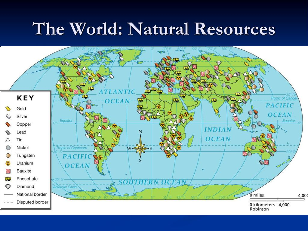 The World: Natural Resources