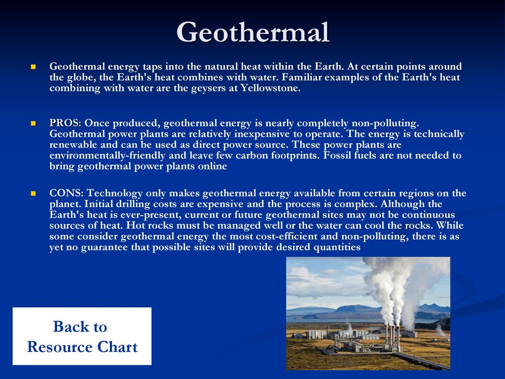 Geothermal Back to Resource Chart