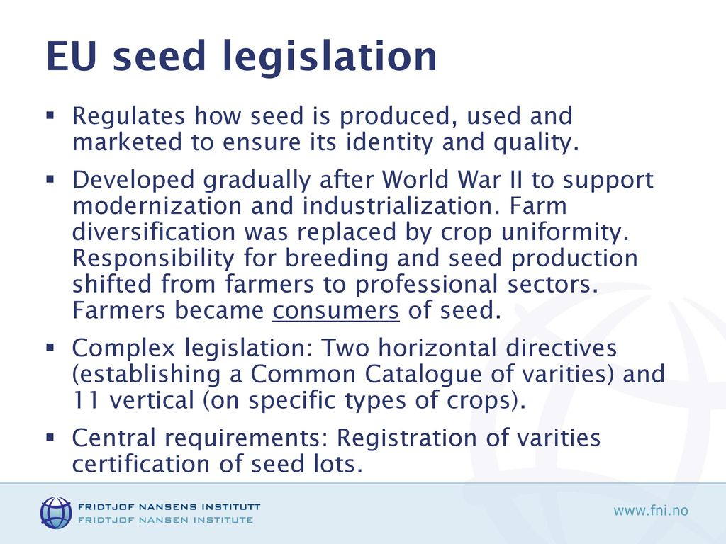 Securing Crop Genetic Diversity: Reconciling EU Seed ...