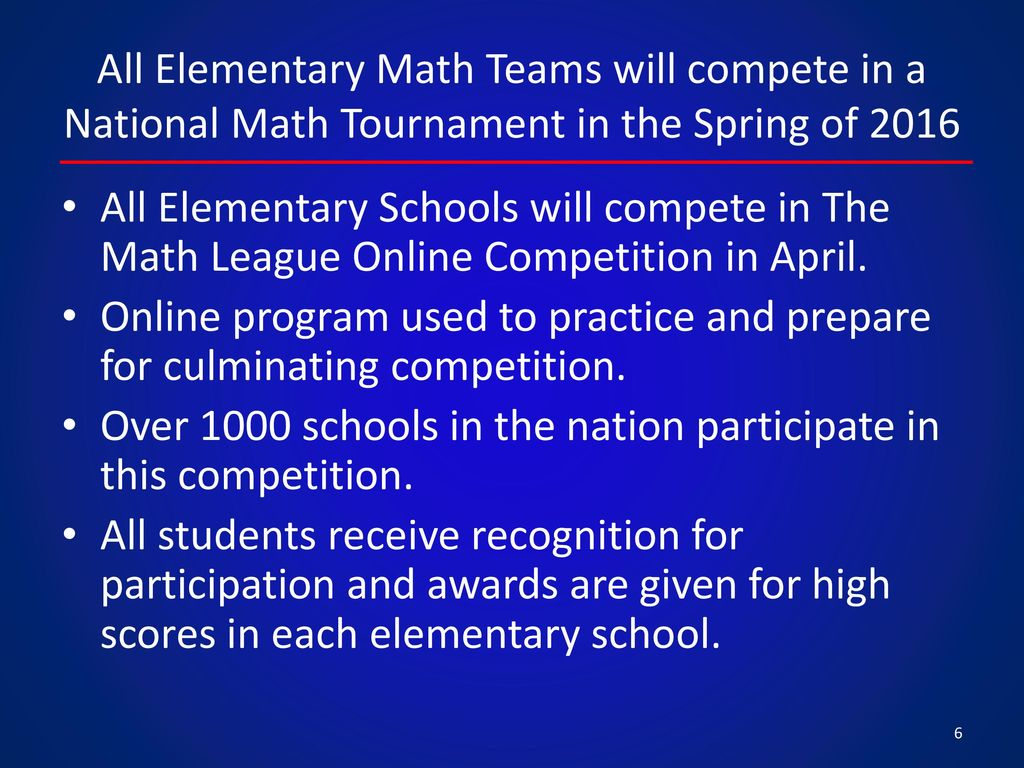 Elementary Math Competition Update - ppt video online download