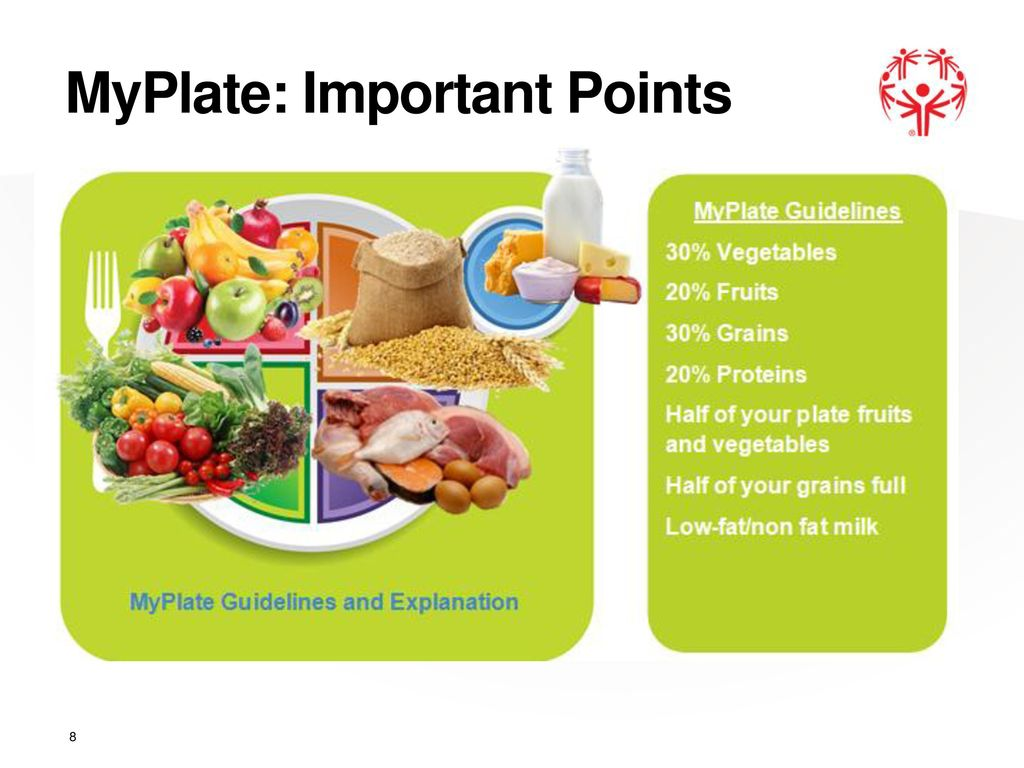 8 MyPlate Important Points