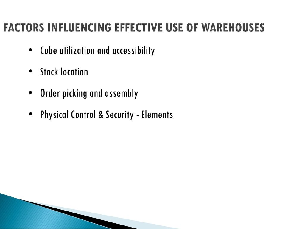 factors affecting effective inventory control Factors affecting inventory management as well as other factors influencing an effective inventory management system should be carried out to.