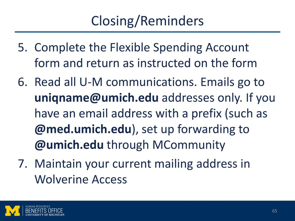 U-M Benefits Orientation - ppt download
