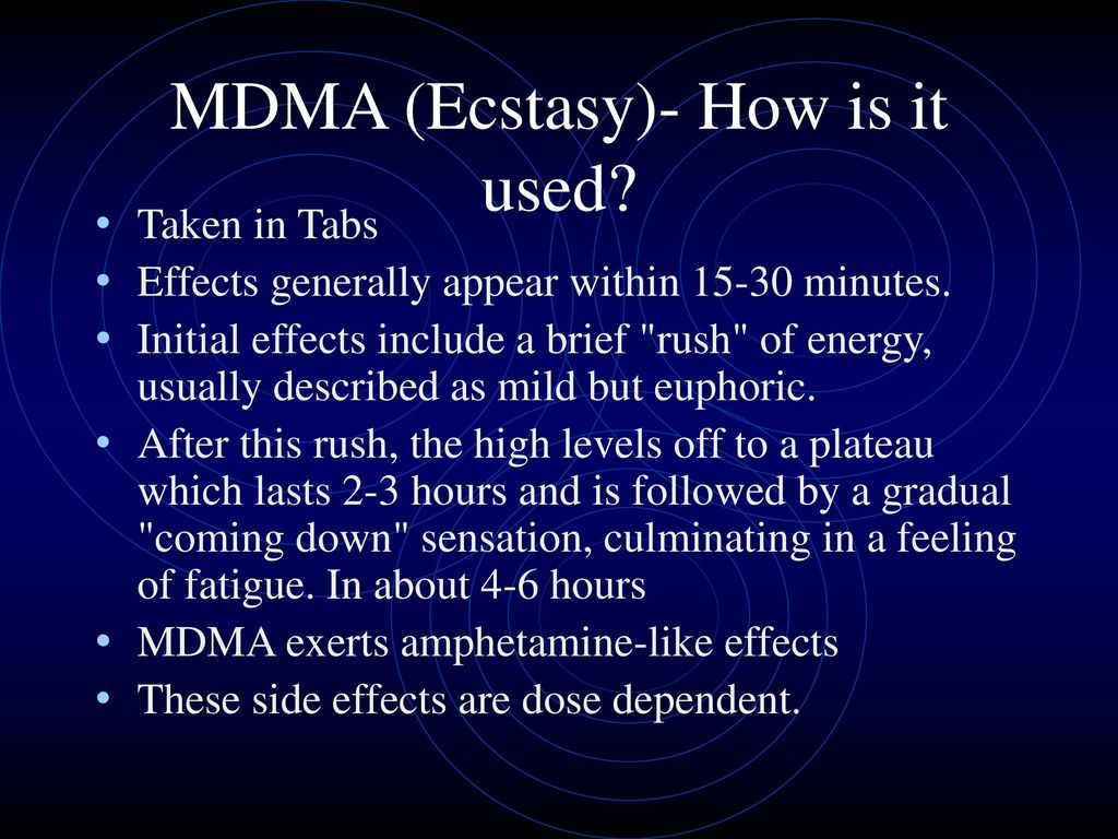 what are the side effects of mdma