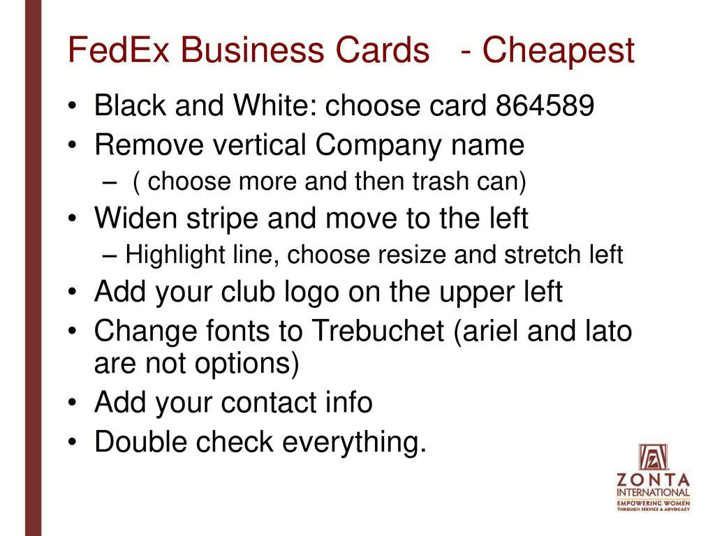 Business Cards Kinkos Fedex Choice Image - Card Design And Card ...