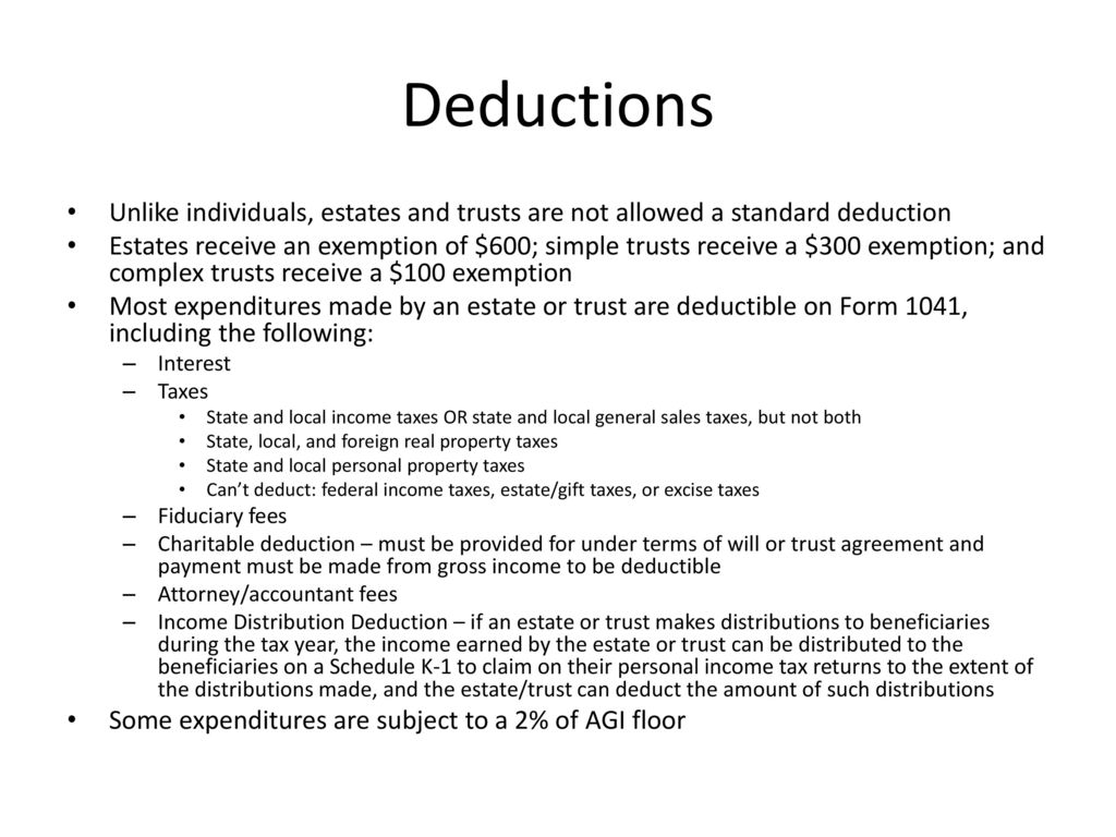 Useful Tips For Federal Fiduciary Income Tax Returns Ppt