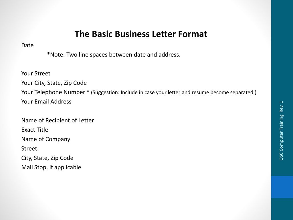 business letter writing format This free-form letter is a valuable time saver for creating basic professional business letters this letter utilizes the standard acceptable formatting of a p.