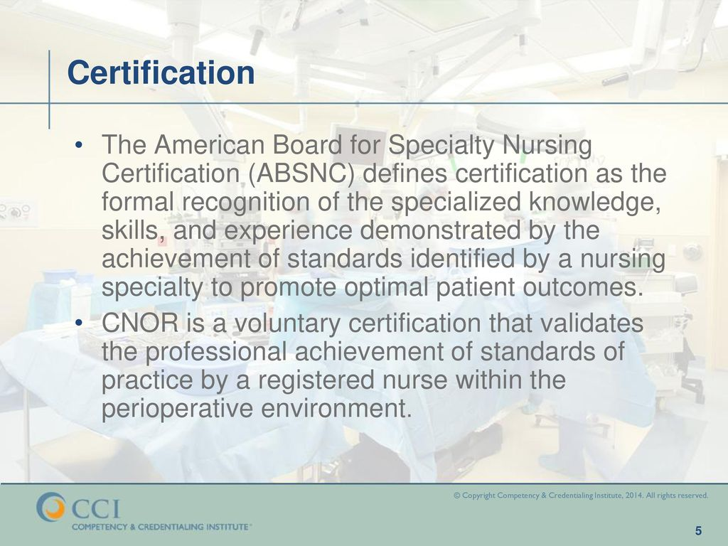 Cnor core study program overview ppt download certification 1betcityfo Choice Image