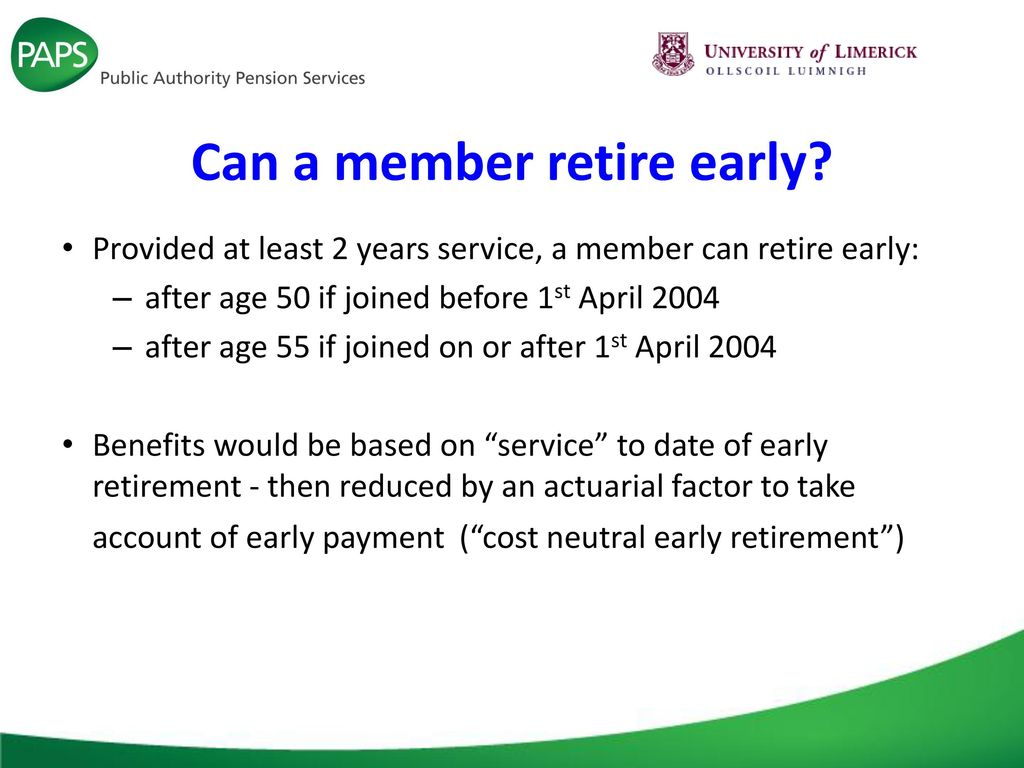 Early retirement and health benefits