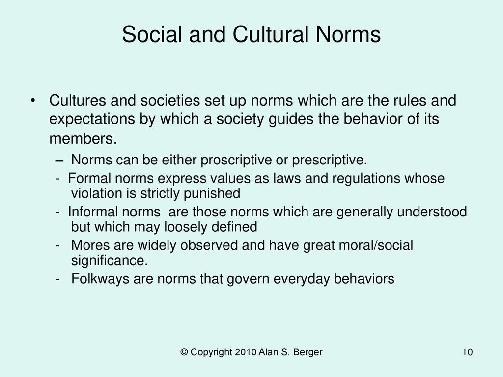 Social and Cultural Norms