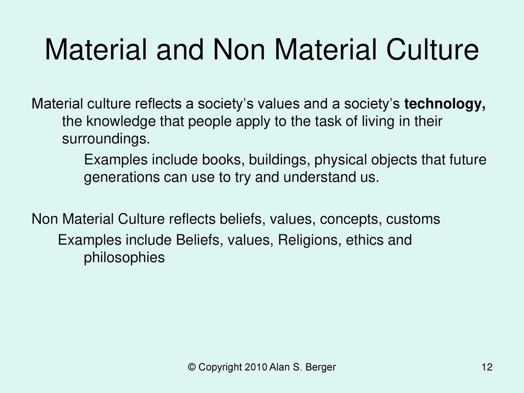 Material and Non Material Culture
