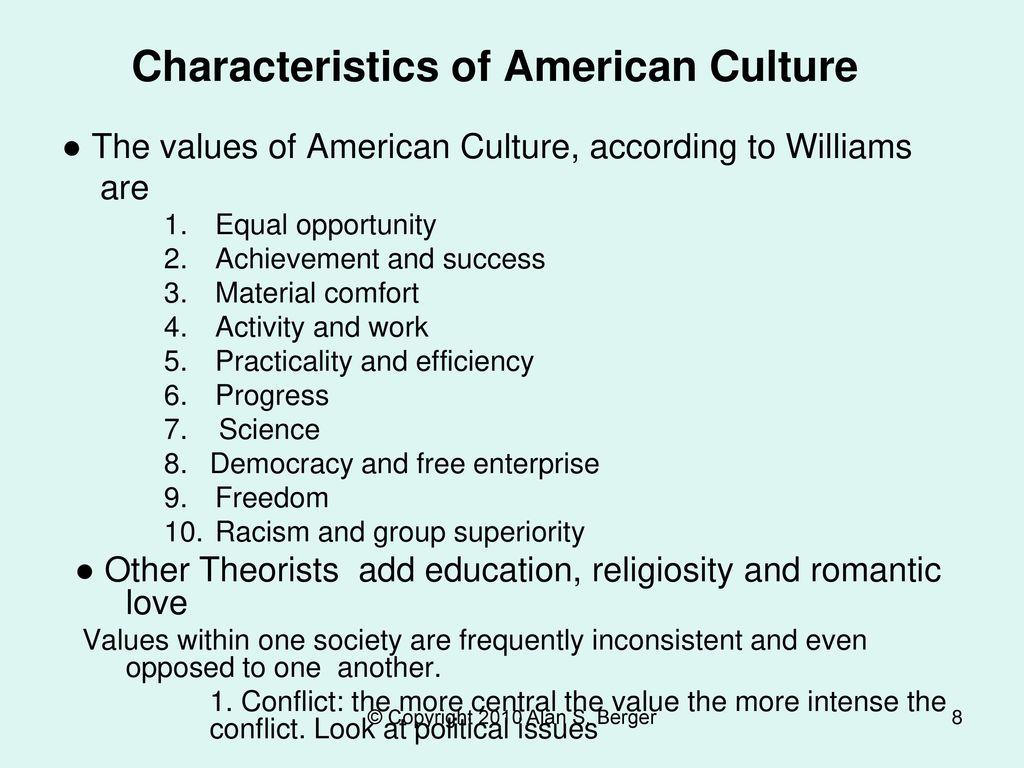 Characteristics of American Culture