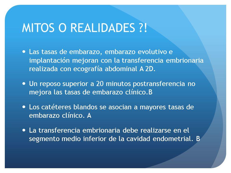 MITOS O REALIDADES !