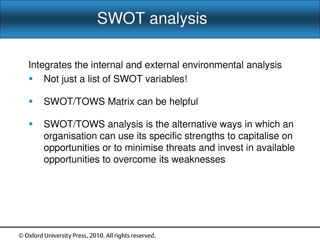 toyota swot analysis 2010