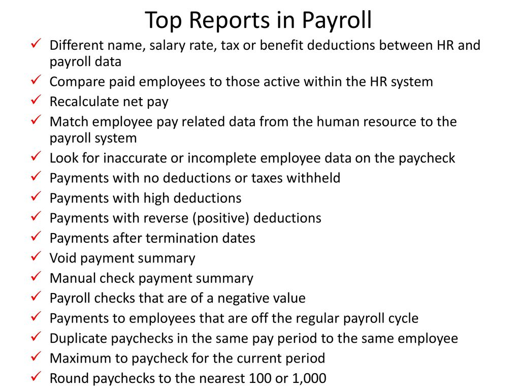 Minutes to analytics with excel ppt download top reports in payroll different name salary rate tax or benefit deductions between hr nvjuhfo Gallery