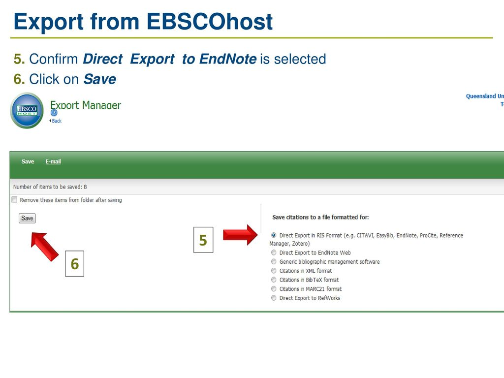 how to save the endnote delivery in the download file