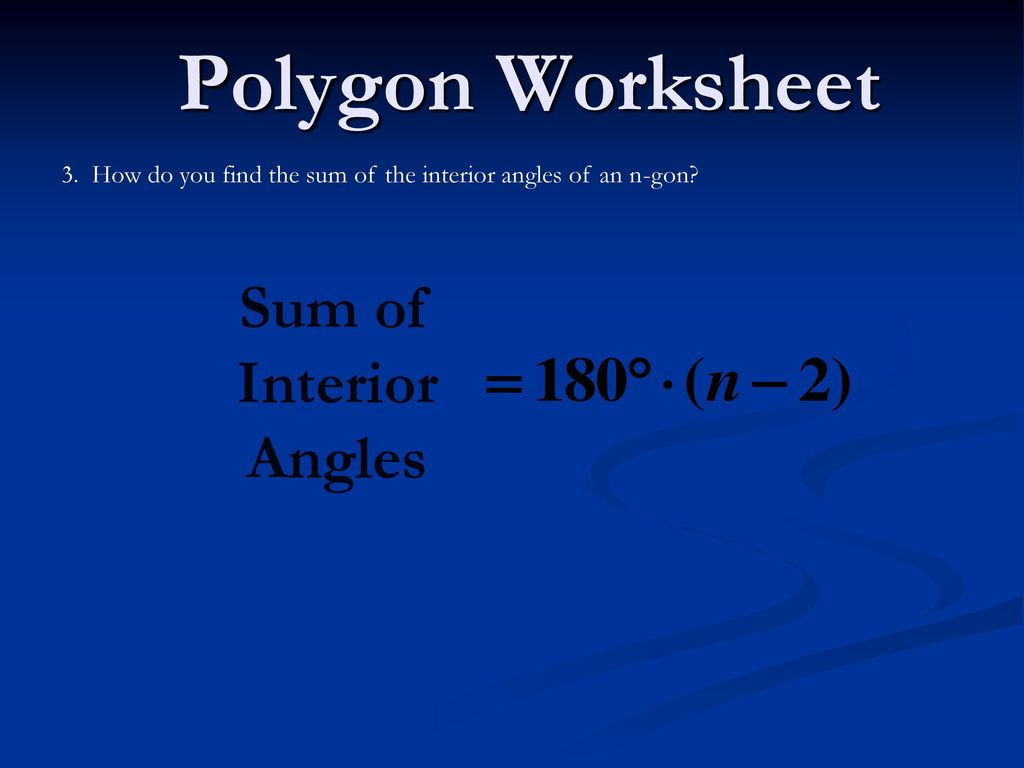 Polygon Worksheet 1 Concave Polygon Convex Polygon ppt download