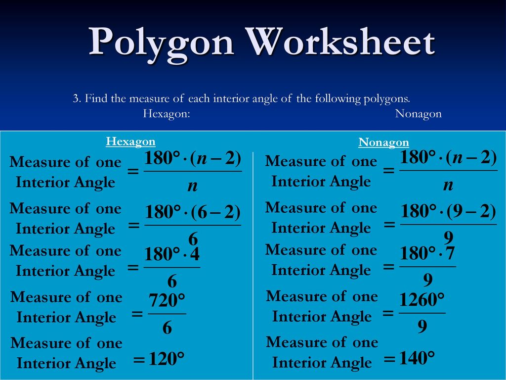 Polygon Worksheet 1 Concave Polygon Convex Polygon Ppt