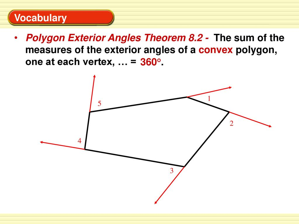 1 if the measures of two angles of a triangle are 19 - Sum of exterior angles of polygon ...