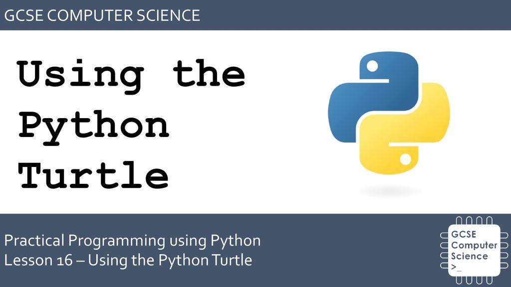 Using the Python Turtle