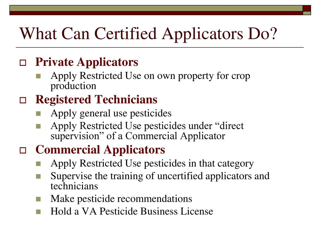 Pesticide applicator certification core review ppt download what can certified applicators do 1betcityfo Gallery
