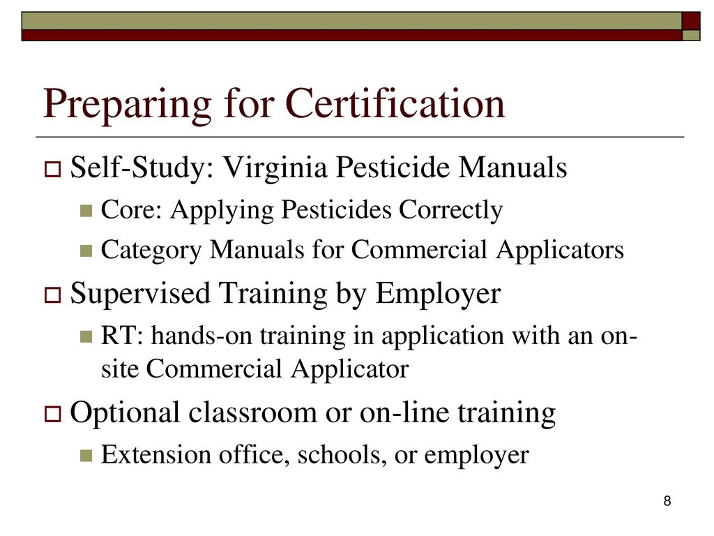 Pesticide applicator certification core review ppt download preparing for certification 1betcityfo Gallery