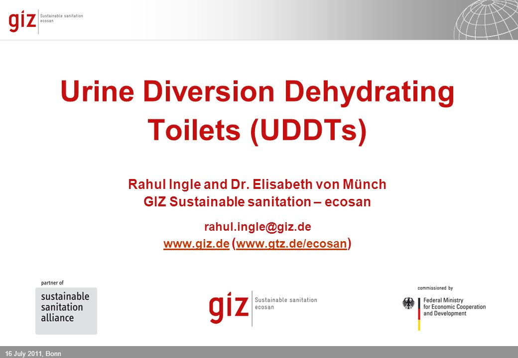 Urine Diversion Dehydrating Toilets (UDDTs) Rahul Ingle and Dr