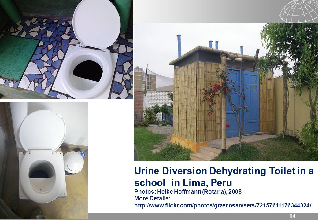 Urine Diversion Dehydrating Toilet in a school in Lima, Peru