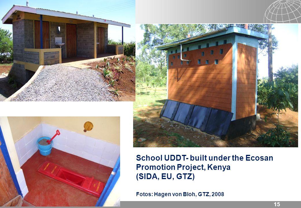 School UDDT- built under the Ecosan Promotion Project, Kenya