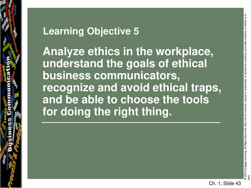 an analysis about ethics