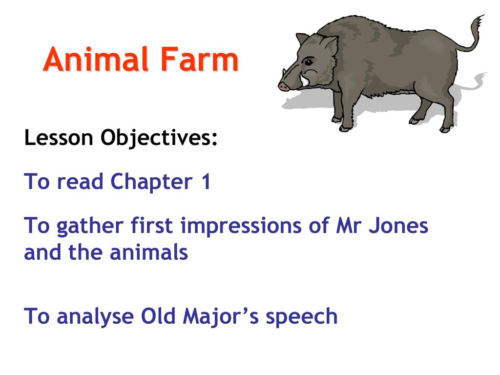 the significance of old majors speech on equality in animal farm a novel by george orwell Animal farm study guide contains a biography of george orwell, literature essays, quiz questions, major themes, characters, and a full summary and analysis.