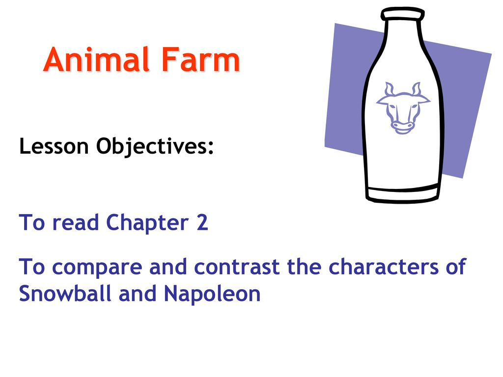 animal farm compare and contrast Animal farm compare and contrast the character of snowball and napoleon how  far do they contribute to the theme of the novel asked by.