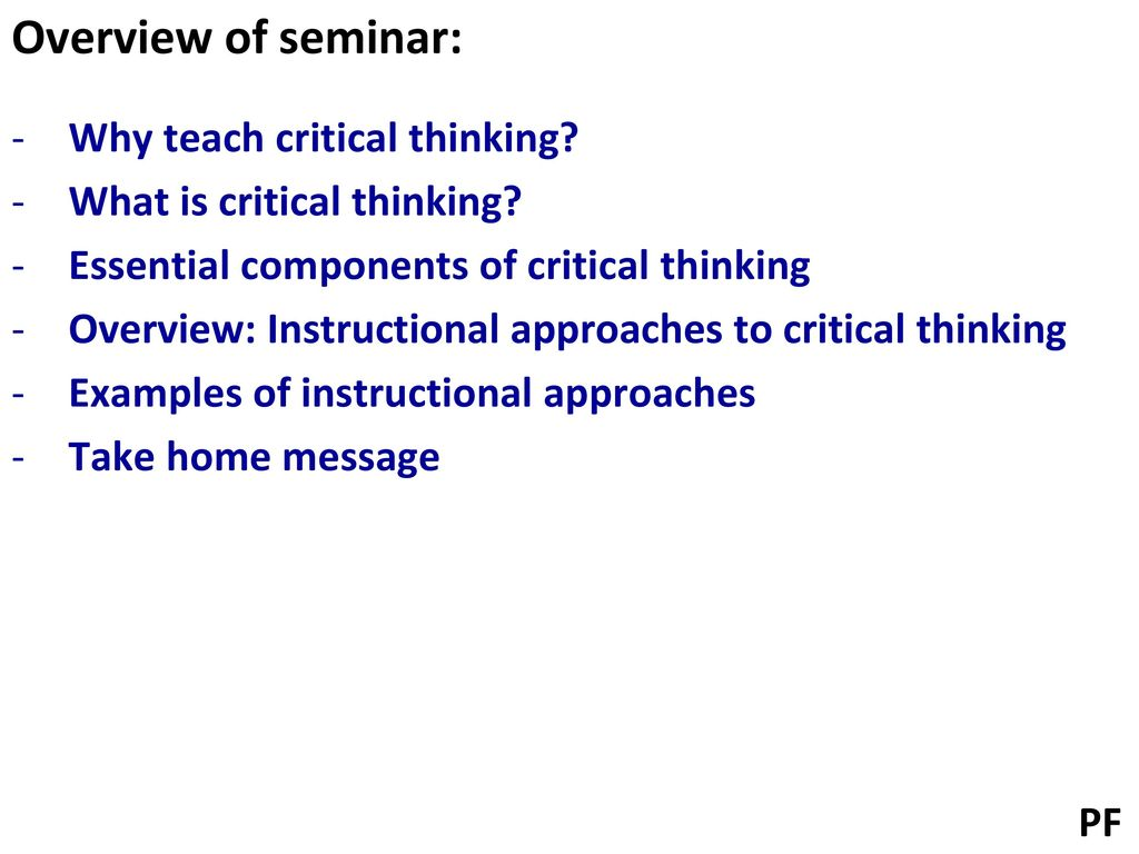 Critical Thinking Examples Online Colleges All