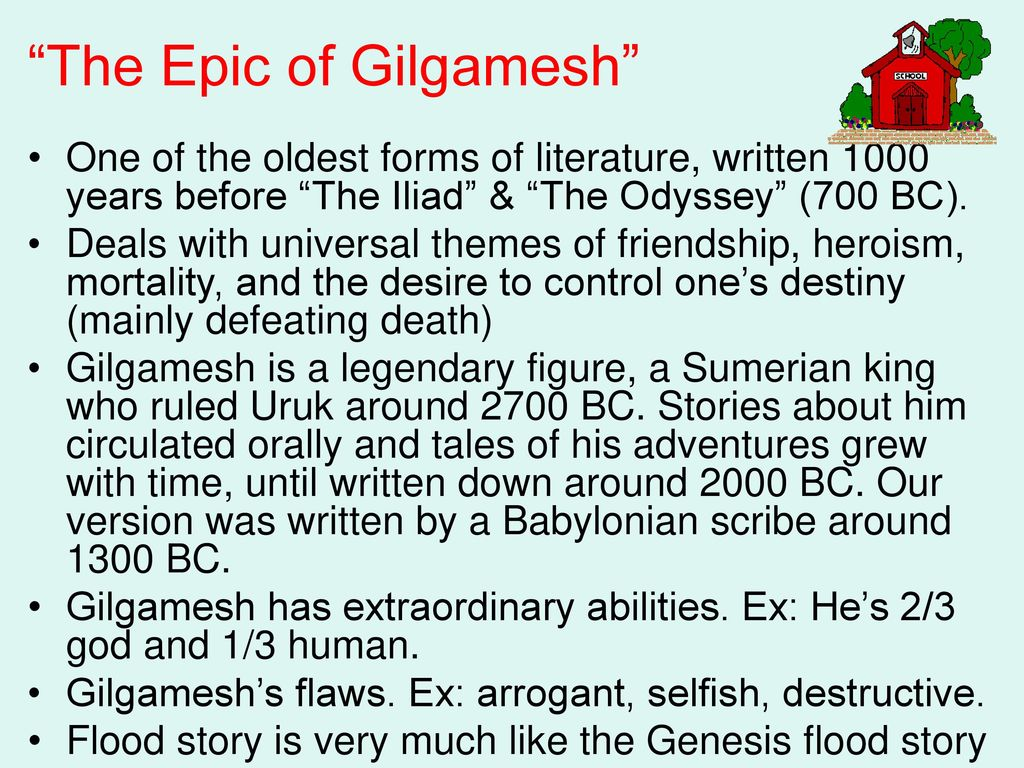 A comparison of the story of the flood from the genesis and from the epic of gilgamesh