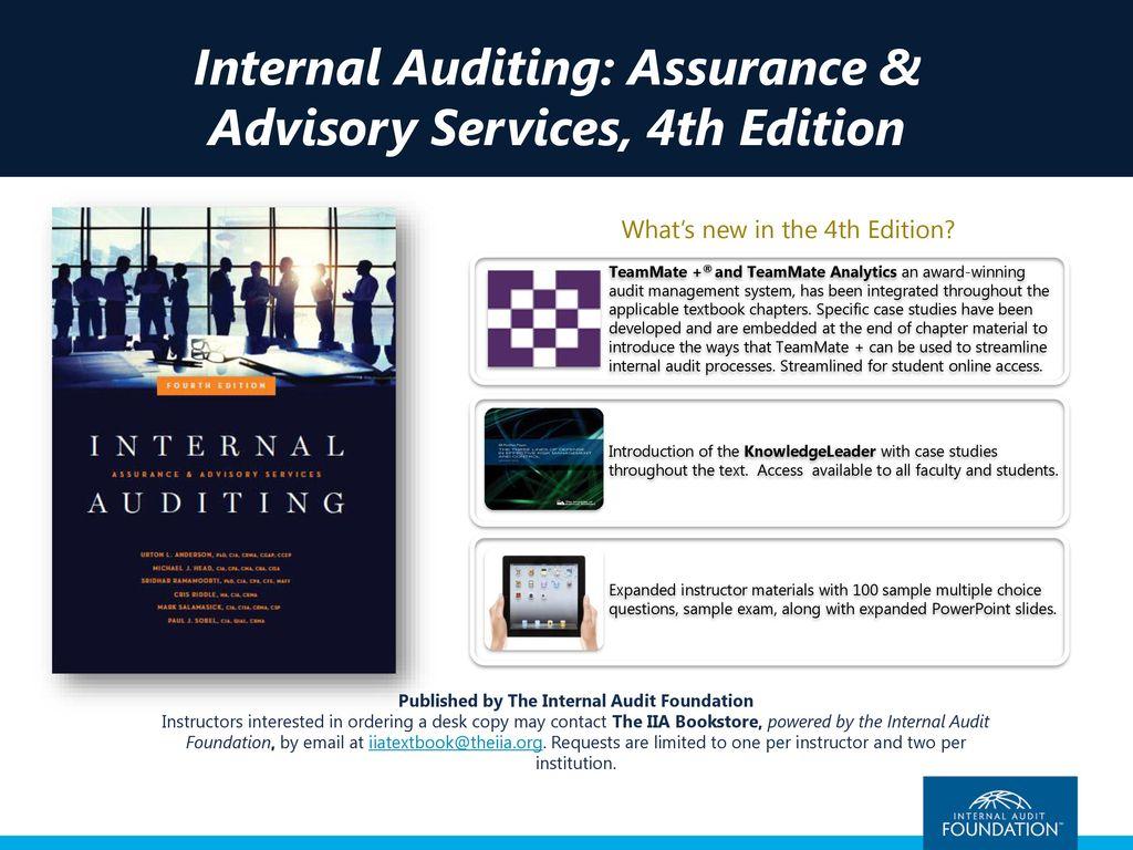 Internal auditing assurance advisory services fourth edition internal auditing assurance advisory services 4th edition fandeluxe Gallery