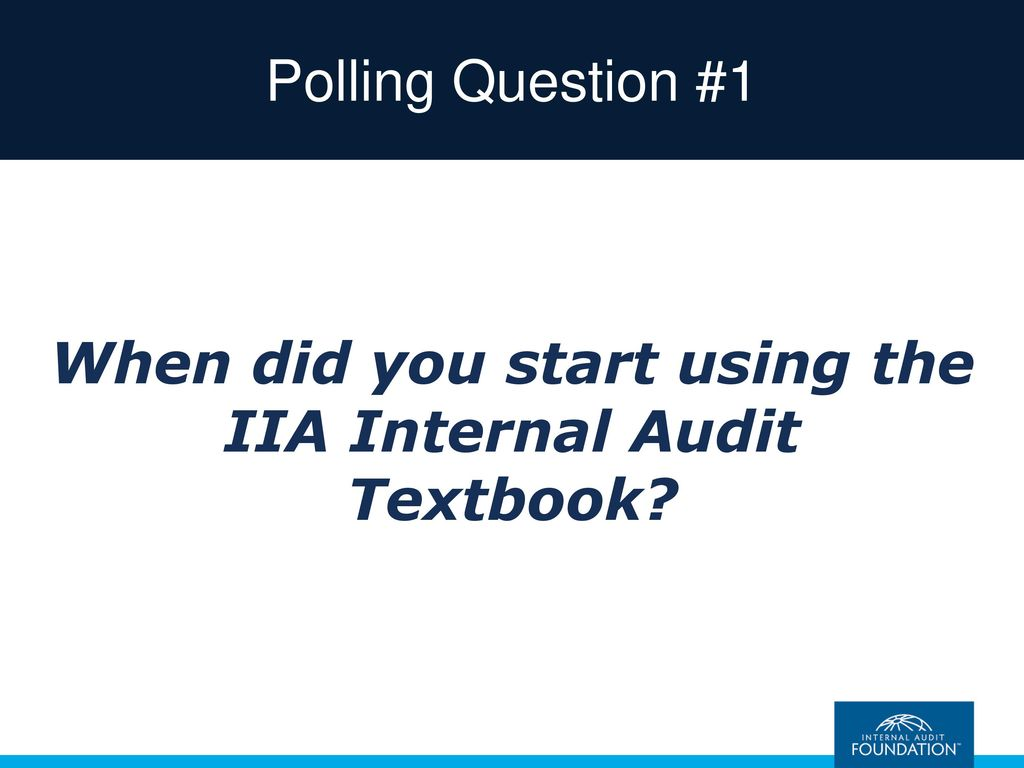 Internal auditing assurance advisory services fourth edition when did you start using the iia internal audit textbook fandeluxe Gallery