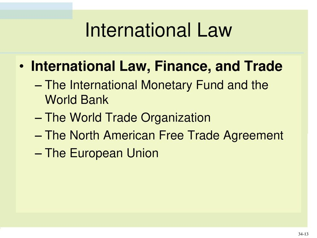 Business law with ucc applications13e ppt download international law international law finance and trade platinumwayz