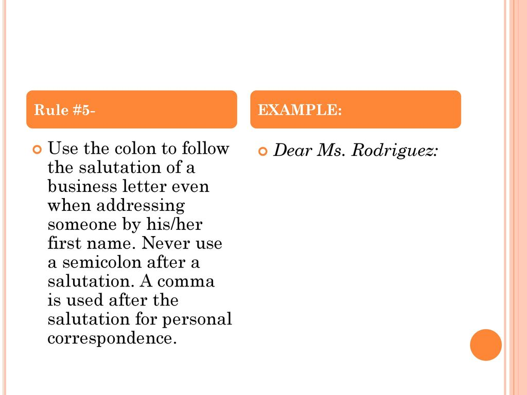 Colon Usage Rule 1 Examples Ppt Download