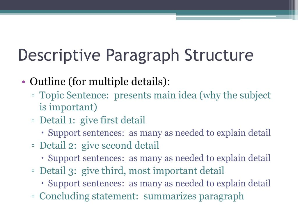 descriptive sentences This tutorial will teach you to distinguish sentence fragments from simple sentences it will also help you better understand the difference between adjectives and.