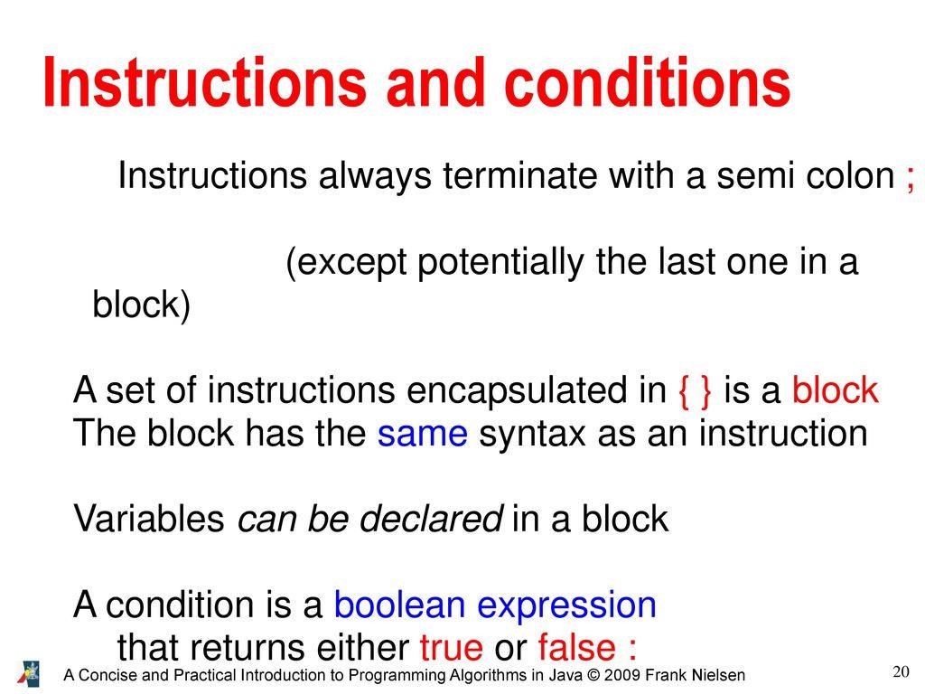 true or false instruction