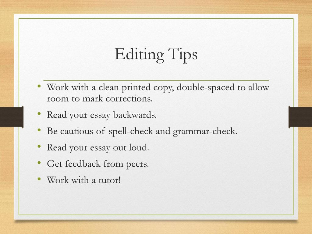 the writing process j johnson ppt video online  38 editing