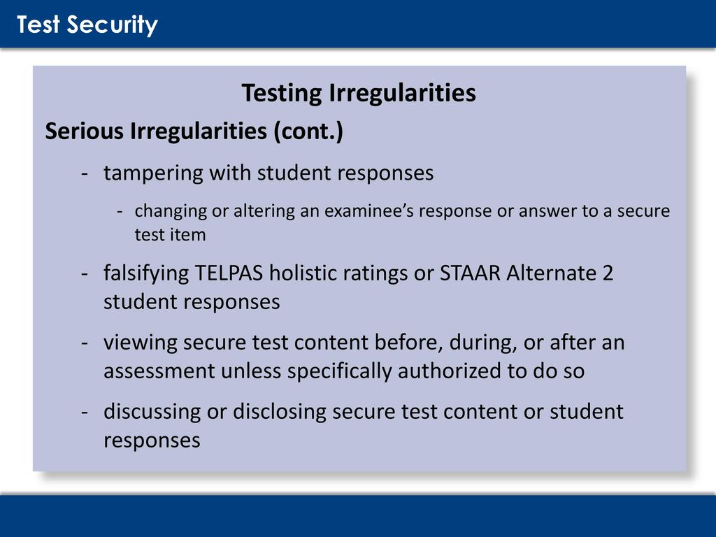 Testing Security Procedures Training Ppt Download