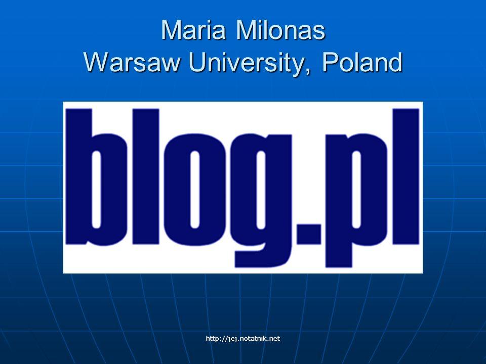 Maria Milonas Warsaw University, Poland