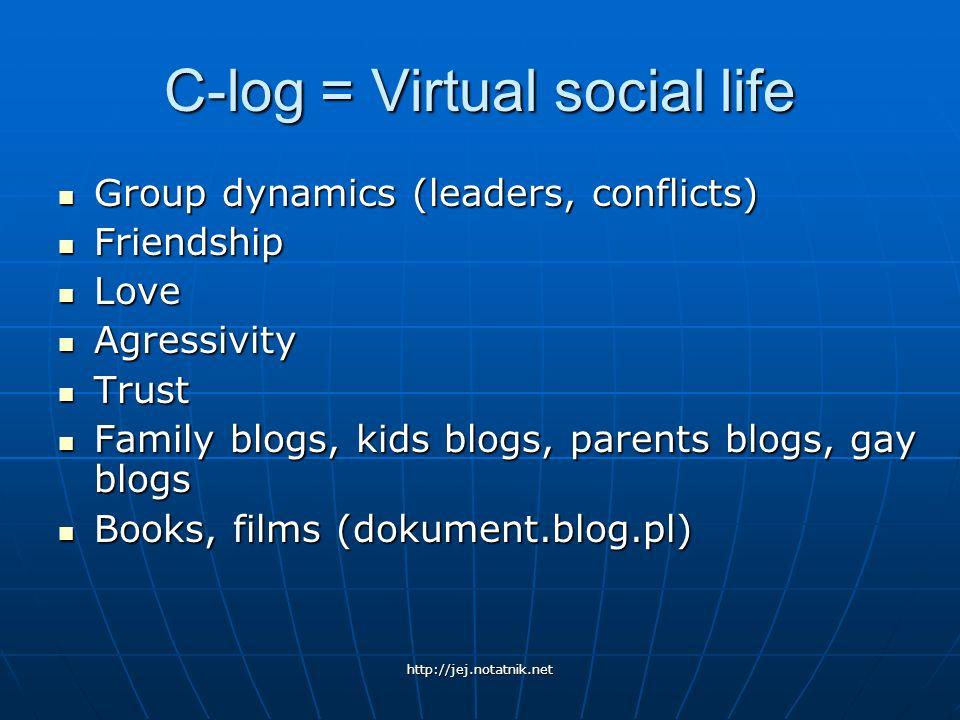 C-log = Virtual social life