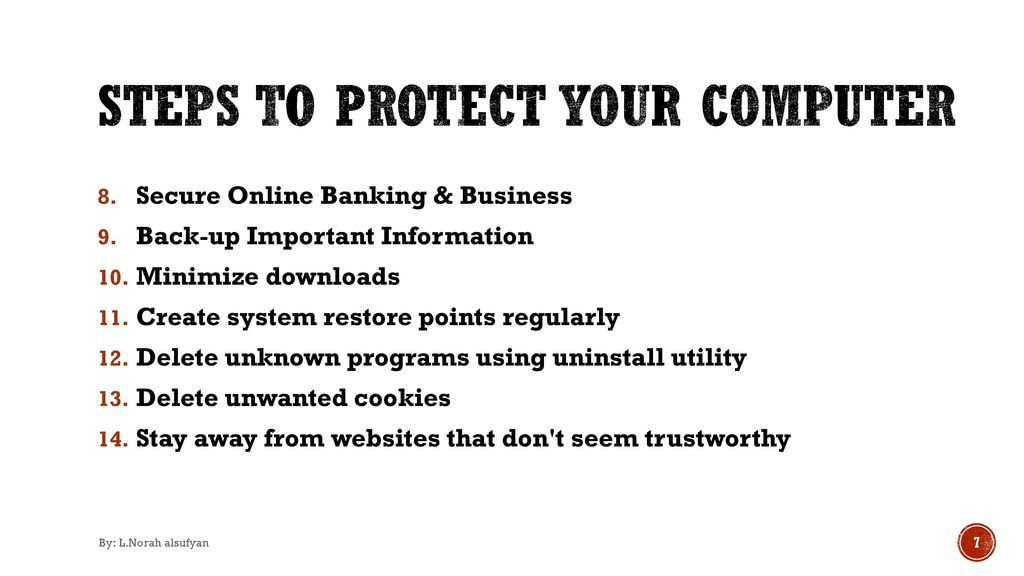 Best practices to protect your computer from malware