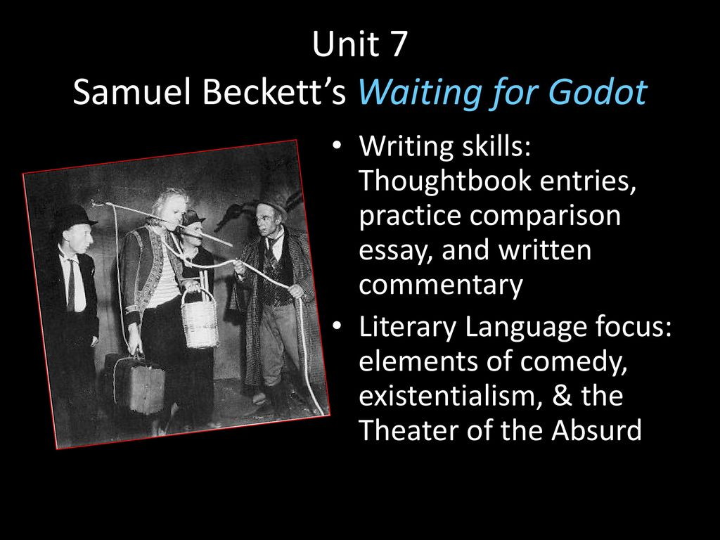 an overview of the concept of waiting for godot by samuel beckett Out of nowhere a boy with a message from mr godot appears, but the boy is too  frightened to come close to the tramps they question the  waiting for godot  samuel beckett share  summary and analysis act i: arrival of boy  messenger.